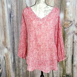 World Market long sleeve blouse